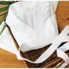 Cantel, Bata De Baño Wafle De Polialgodón, Color Blanco, Talla S