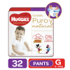 Pañales Pants Huggies Natural Care G, 32 Uds