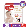 Pañales Pants Huggies Natural Care M, 38 Uds