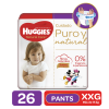 Pañales Pants Huggies Natural Care XXG, 26 Uds