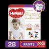 Pañales Pants Huggies Natural Care XG, 28 Uds