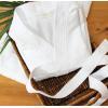 Bata de baño wafle Duradero - Blanco -  L